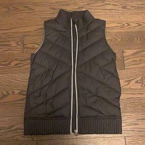 black and blue vest